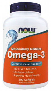 NOW Omega 3 1000 мг (200 капс)